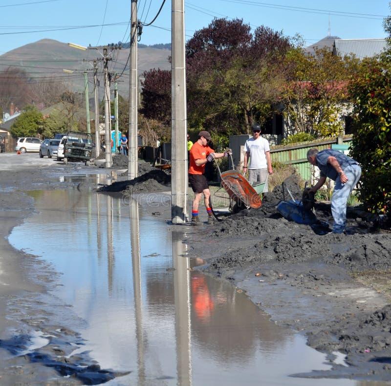 Les grands nettoient, des dommages de séisme de Christchurch photos libres de droits