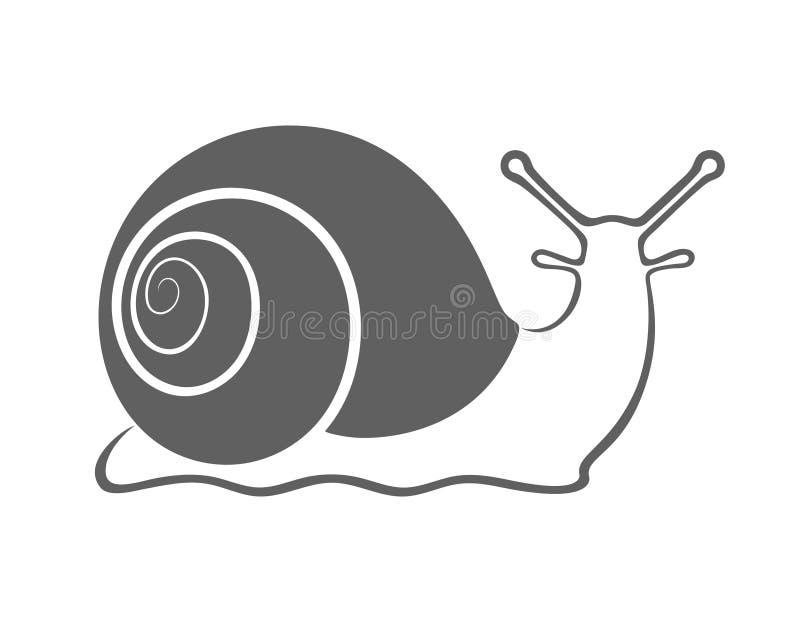 Les graphiques d'escargot signent illustration stock