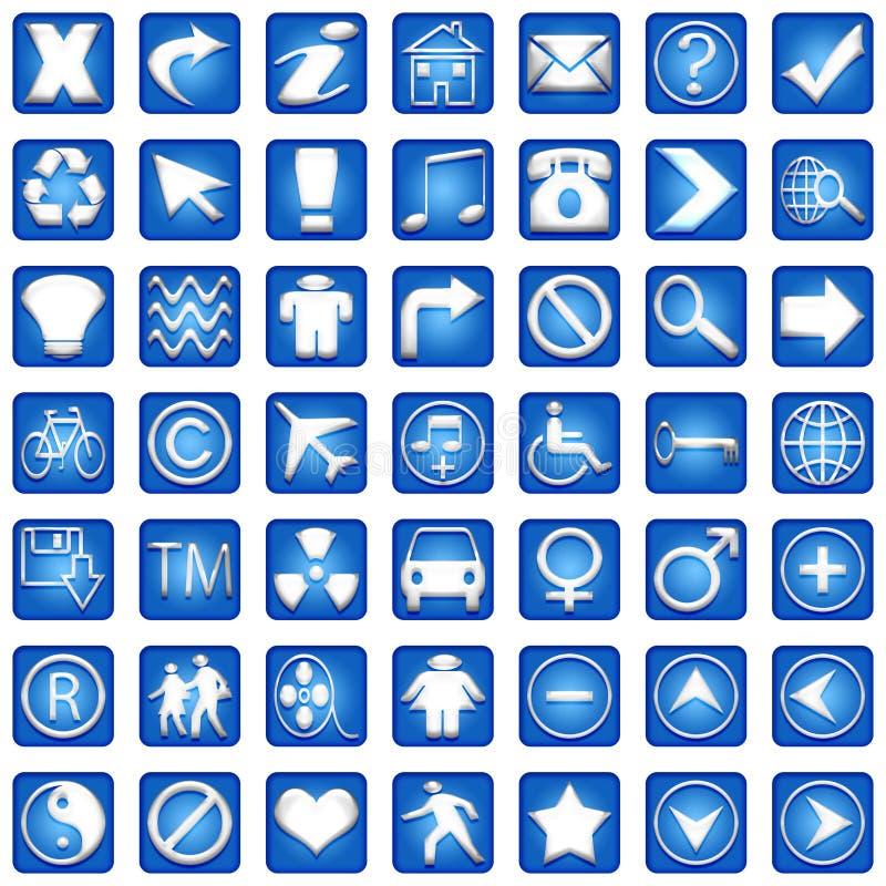 Les graphismes carrés bleus ont placé la partie illustration libre de droits