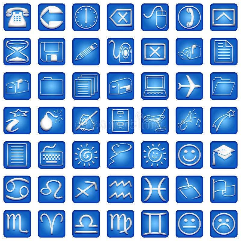 Les graphismes carrés bleus ont placé la partie illustration de vecteur