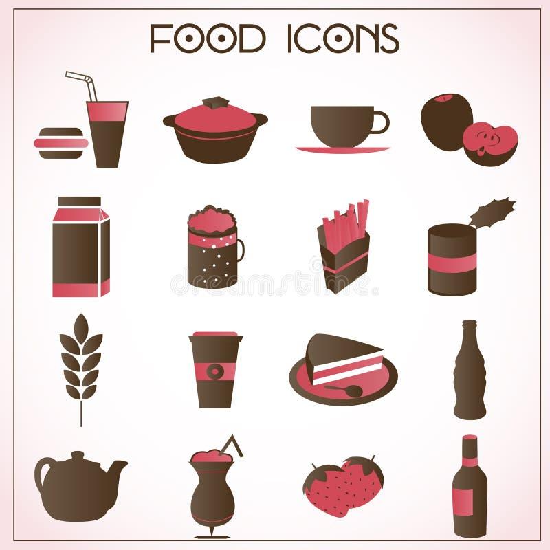 Les graphismes de nourriture ont placé illustration libre de droits