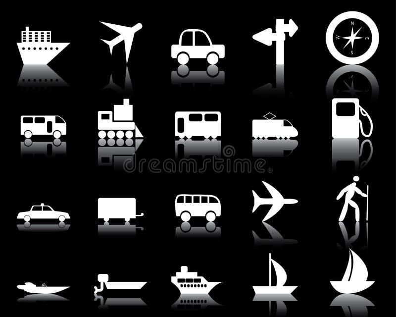 Les graphismes de transport ont placé illustration stock