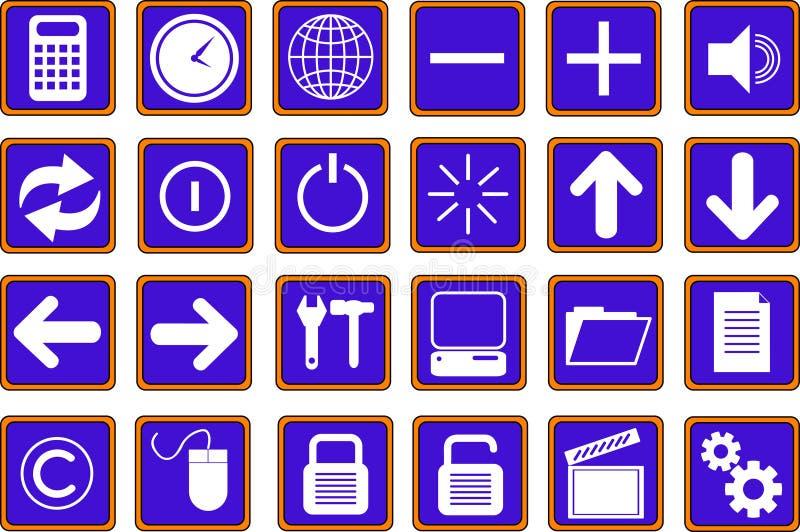 Les graphismes de Web boutonne le bleu 2 photos libres de droits