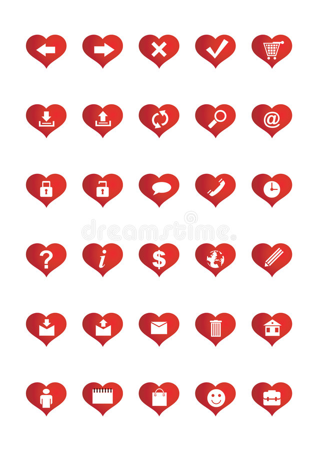 Les graphismes de Web d'amour ont placé 1 illustration de vecteur