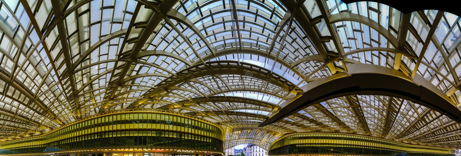 Les Halles metro station and shopping mall cupola. Paris, France royalty free stock images