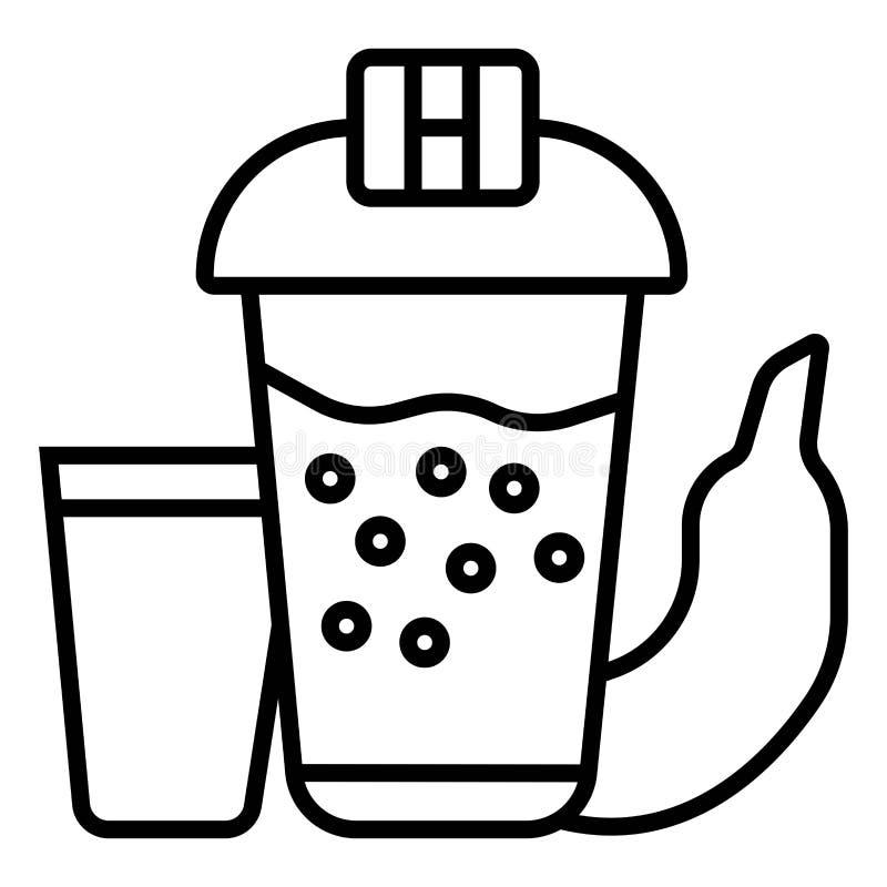 Les haltères, dispositif trembleur, folâtre la nutrition, pomme, icône illustration libre de droits