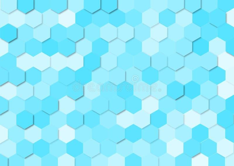 Les hexagones bleus sans couture donnent une consistance rugueuse pour le fond abstrait illustration de vecteur