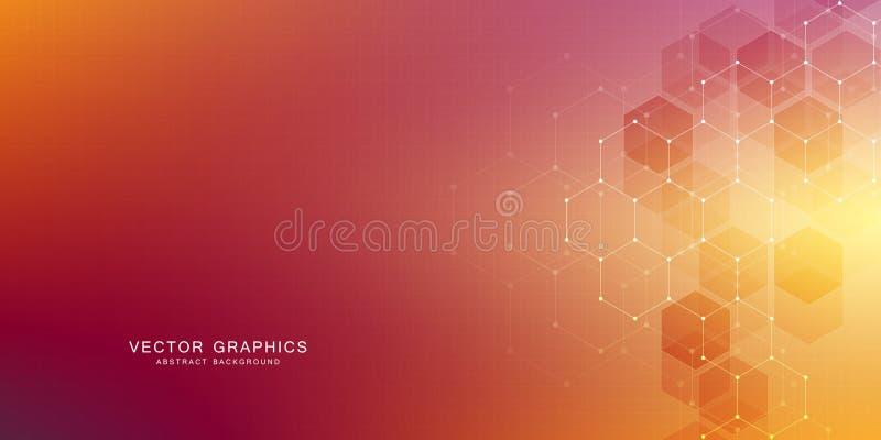 Les hexagones modèlent pour médical, la science et la conception de technologie numérique illustration de vecteur