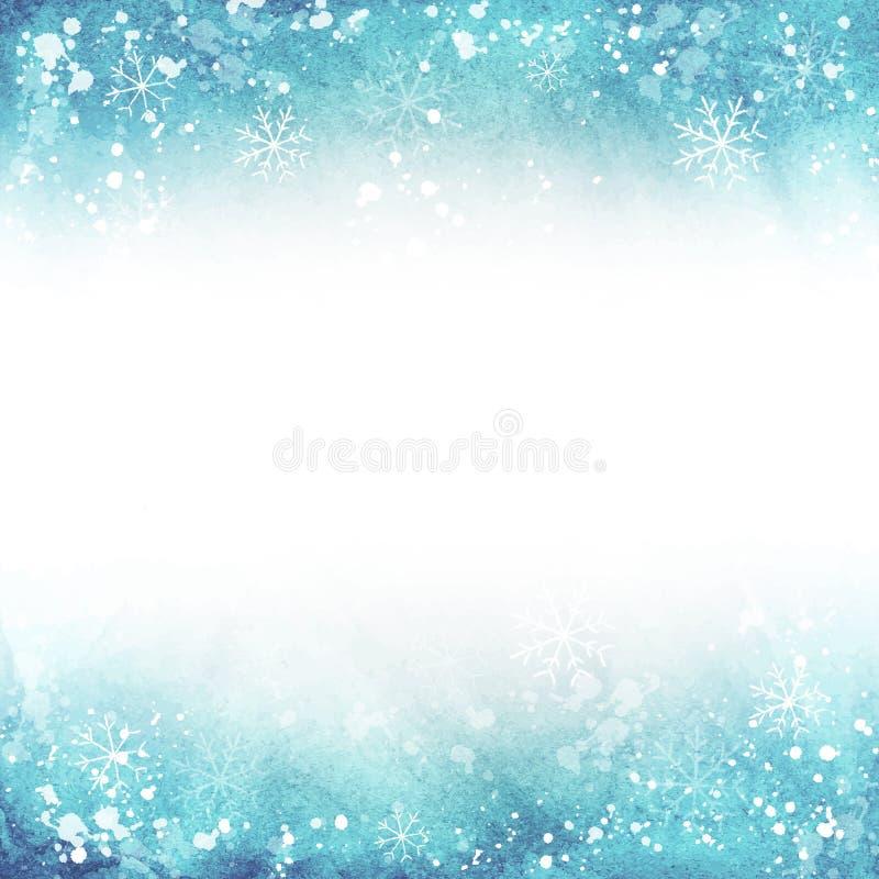 les 0 hivers procurables de version d'illustration de 8 ENV Vue avec des flocons de neige Vecteur illustration de vecteur
