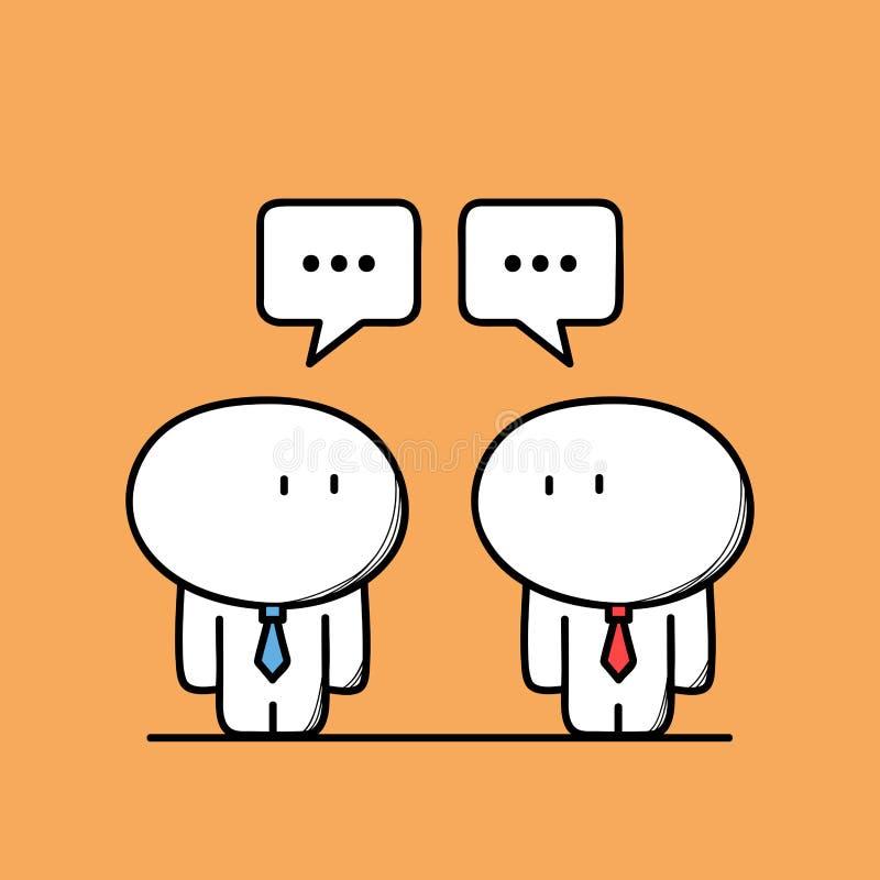 Les hommes d'affaires mignons ont une conversation illustration libre de droits