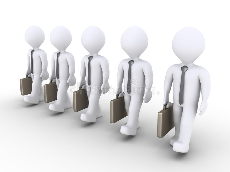 Les hommes d'affaires réussis marchent ensemble illustration de vecteur