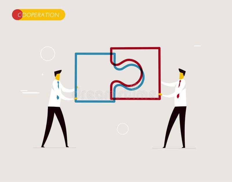 Les hommes d'affaires relient le puzzle illustration libre de droits