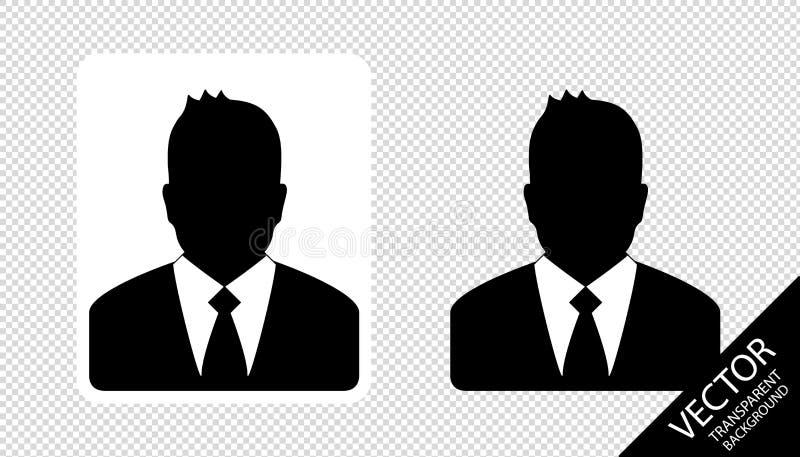 Les hommes d'affaires silhouettent l'ensemble - illustration de vecteur - d'isolement sur le fond transparent illustration de vecteur