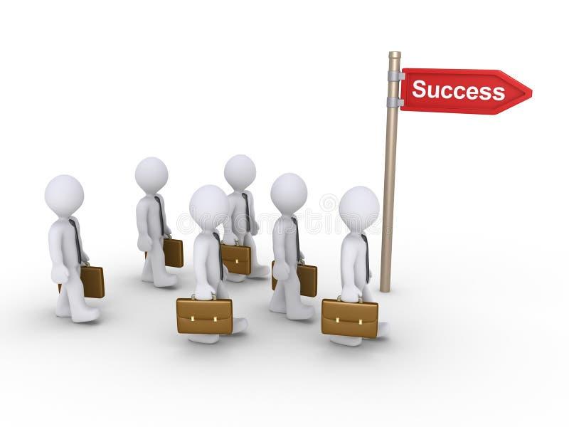 Les hommes d'affaires veulent réussir illustration de vecteur