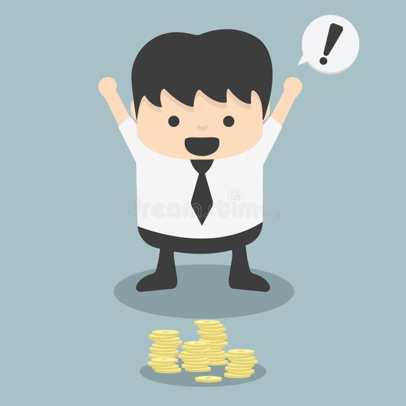 Les hommes d'affaires voient l'argent trouvé fortuit illustration libre de droits