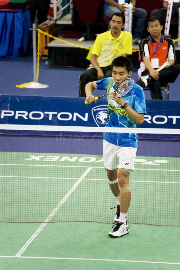 les hommes s de lie de chong de badminton choisit wei photo stock