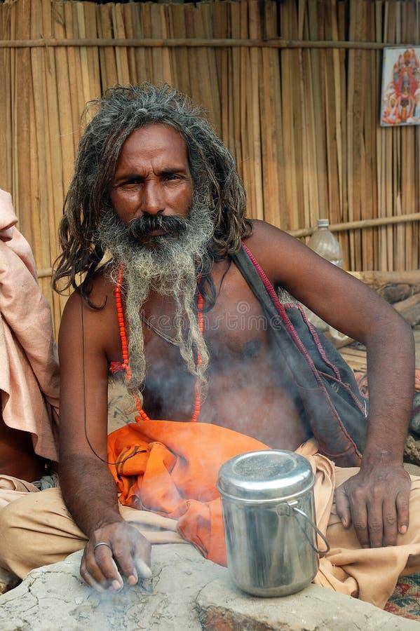 Les hommes saints de l'Inde image libre de droits