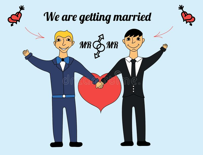 Les homosexuels se marient  illustration stock