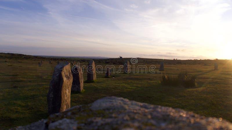 Les Hurlers Bodmin amarrent, les Cornouailles, Royaume-Uni photos stock