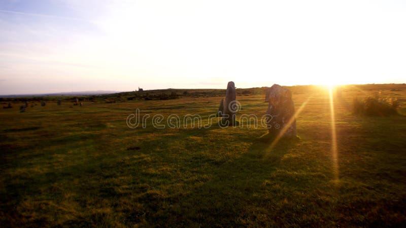Les Hurlers Bodmin amarrent, les Cornouailles, Royaume-Uni photo stock