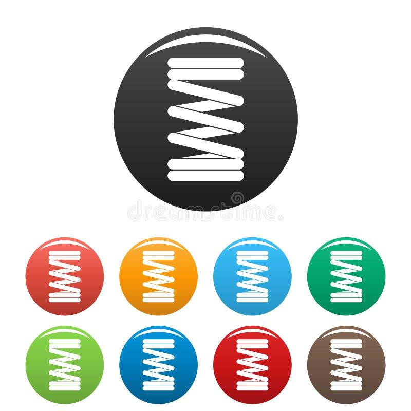 Les icônes élastiques de fil de ressort ont placé la couleur illustration libre de droits