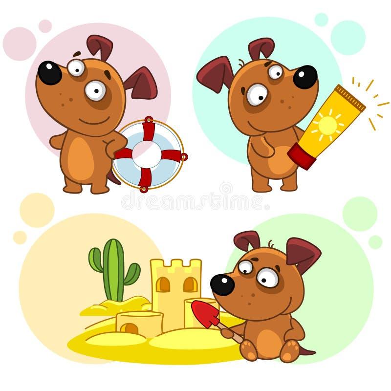 Les icônes avec des chiens pièce 46 illustration stock