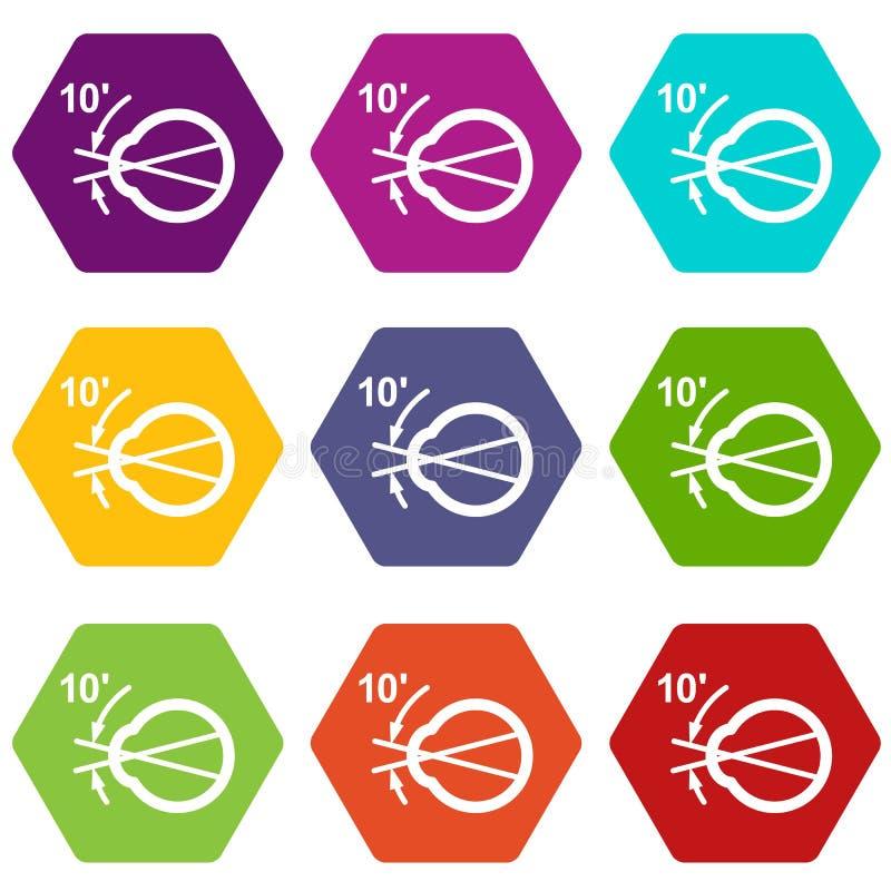 Les icônes d'angle de vision ont placé 9 illustration de vecteur