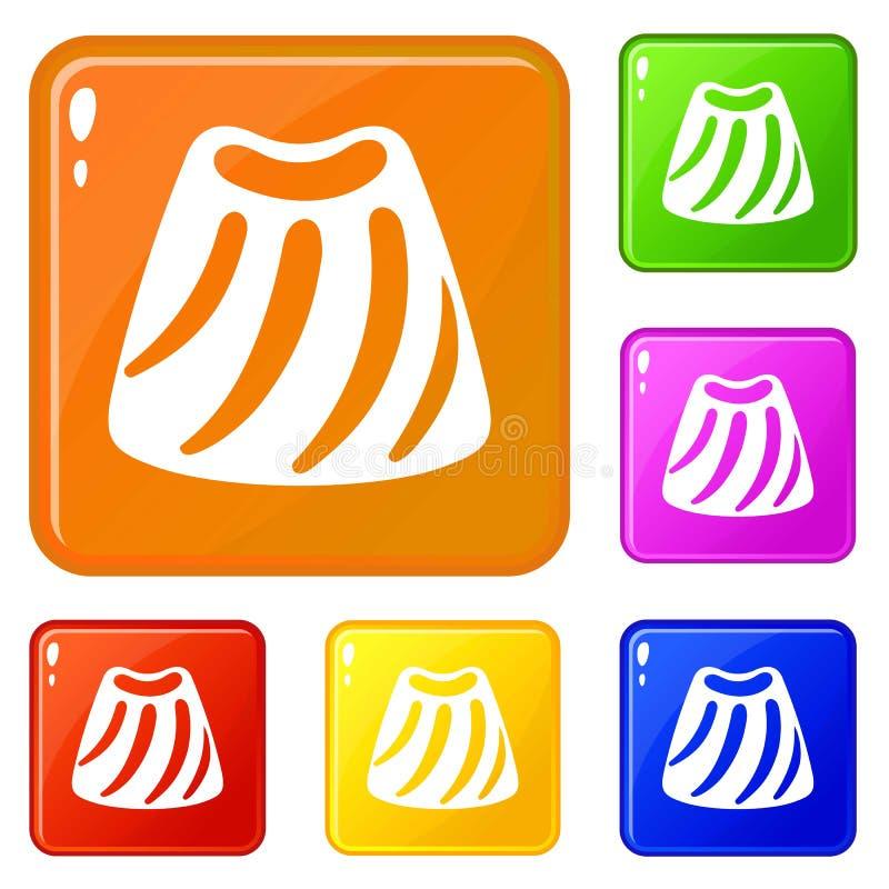 Les icônes de bonbon de sucrerie ont placé la couleur de vecteur illustration stock