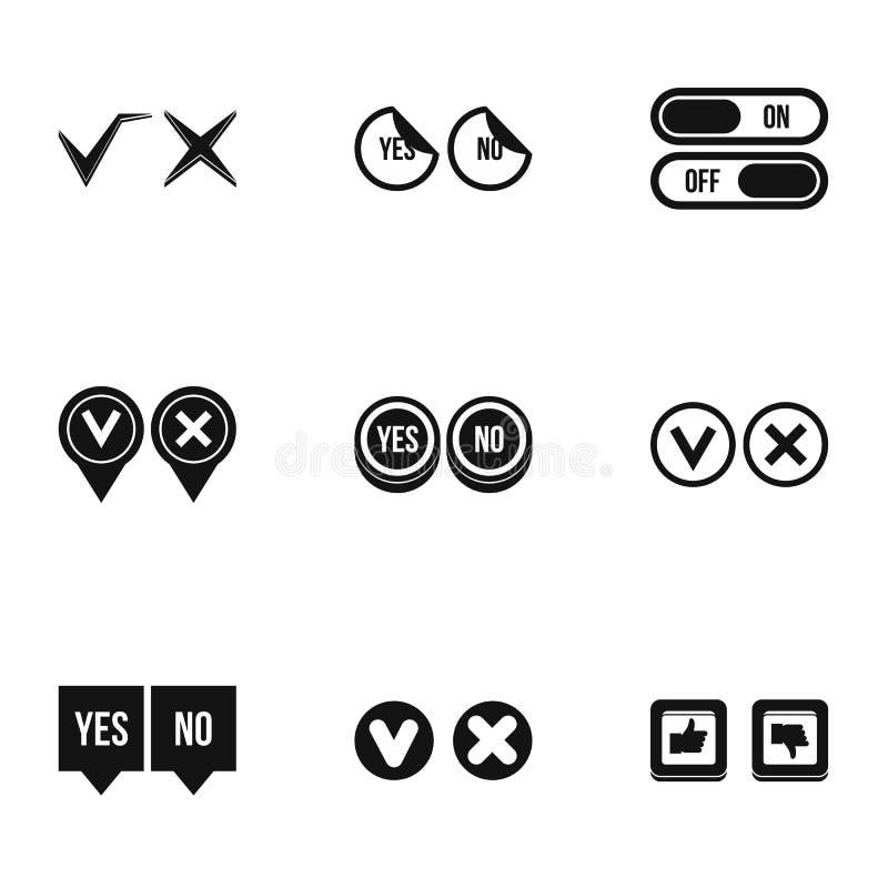 Les icônes de clic et de sélection ont placé, style simple illustration stock