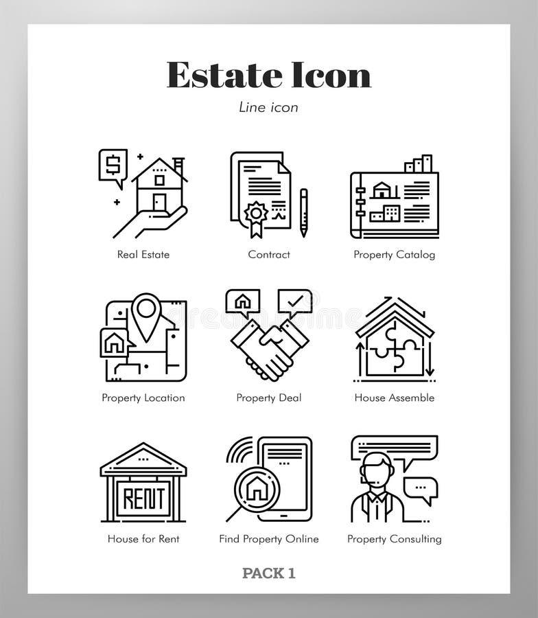 Les icônes de domaine rayent le paquet illustration de vecteur