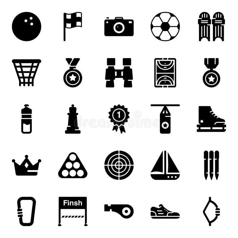 Les icônes de Glyph de jeu emballent illustration libre de droits