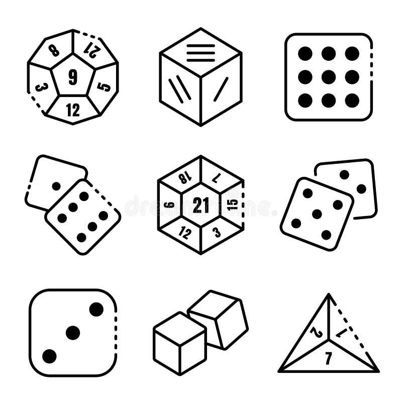 Les icônes de matrices ont placé, style d'ensemble illustration de vecteur