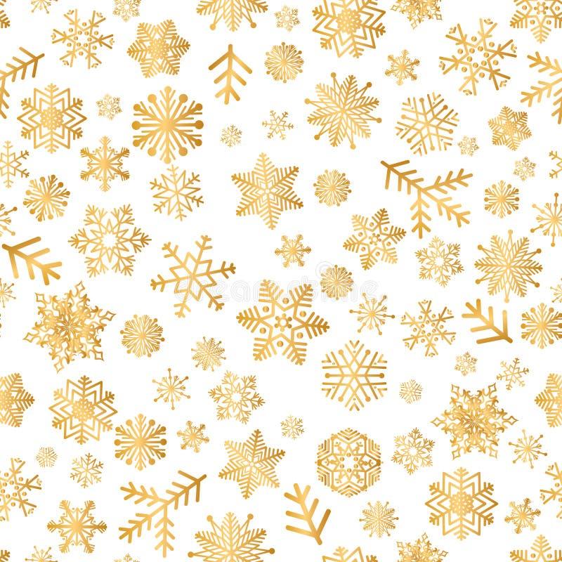 Les icônes de Noël neigent modèle sans couture, tuile heureuse de vacances d'hiver illustration de vecteur