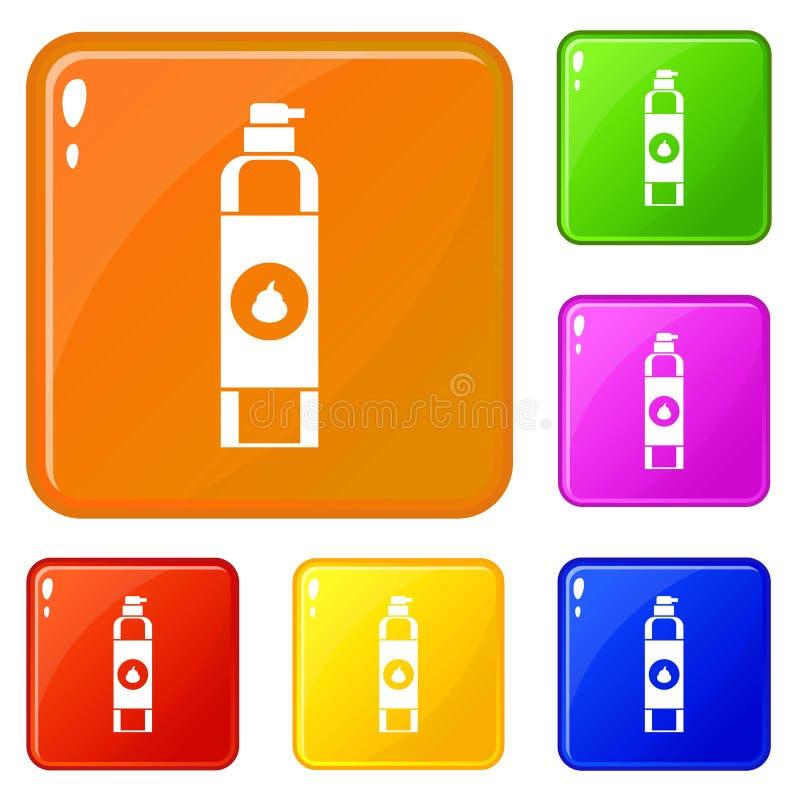 Les icônes de parfum d'ambiance ont placé la couleur de vecteur illustration stock