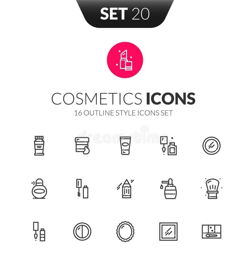 Les icônes noires d'ensemble ont placé dans le style mince de conception moderne illustration de vecteur