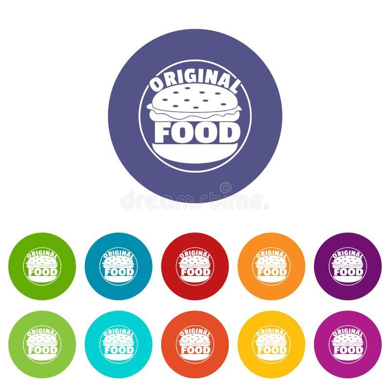Les icônes originales d'hamburger ont placé la couleur de vecteur illustration de vecteur