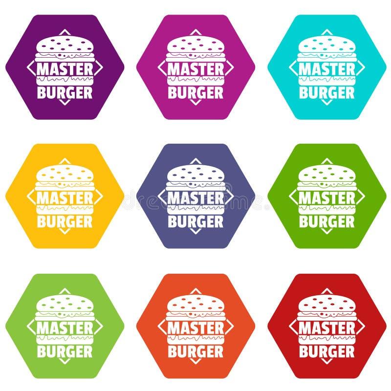 Les icônes principales d'hamburger ont placé le vecteur 9 illustration de vecteur