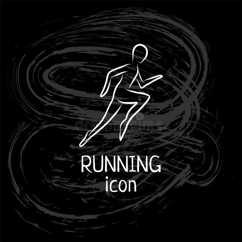 Les icônes tirées par la main d'ensemble de triathlon ont placé pour la manifestation sportive ou le marathon ou la concurrence o illustration de vecteur