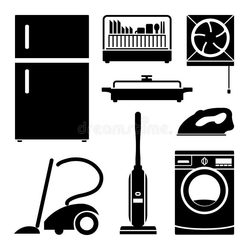 Les icônes à la maison de l'électronique ont placé grand pour n'importe quel usage Vecteur eps10 illustration stock