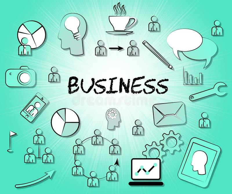 Les icônes d'affaires représente les symboles et le signe commerciaux illustration de vecteur