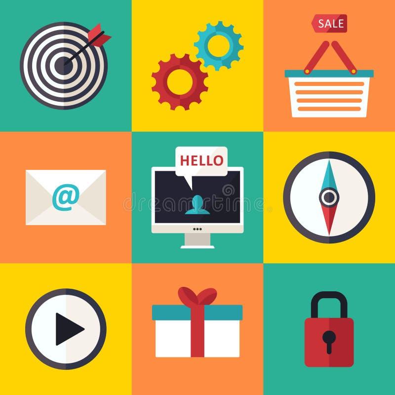 Les icônes d'infographics de Web ont placé pour le site d'affaires, les présentations etc. illustration de vecteur