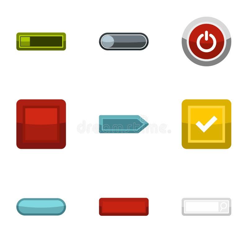 Les icônes de clic et de sélection ont placé, style plat illustration de vecteur