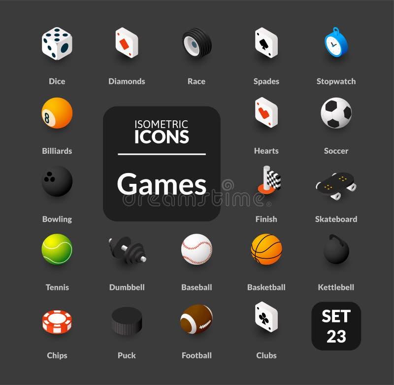 Les icônes de couleur ont placé dans le style isométrique plat d'illustration, collection de vecteur illustration libre de droits