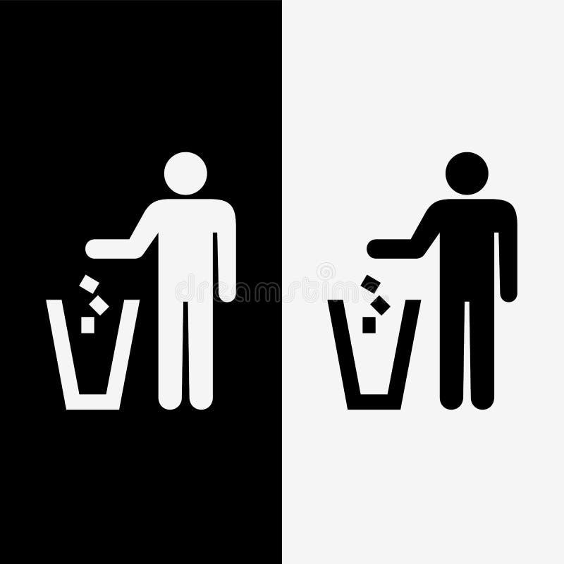 Les icônes de déchets ont placé grand pour n'importe quel usage Vecteur eps10 illustration de vecteur