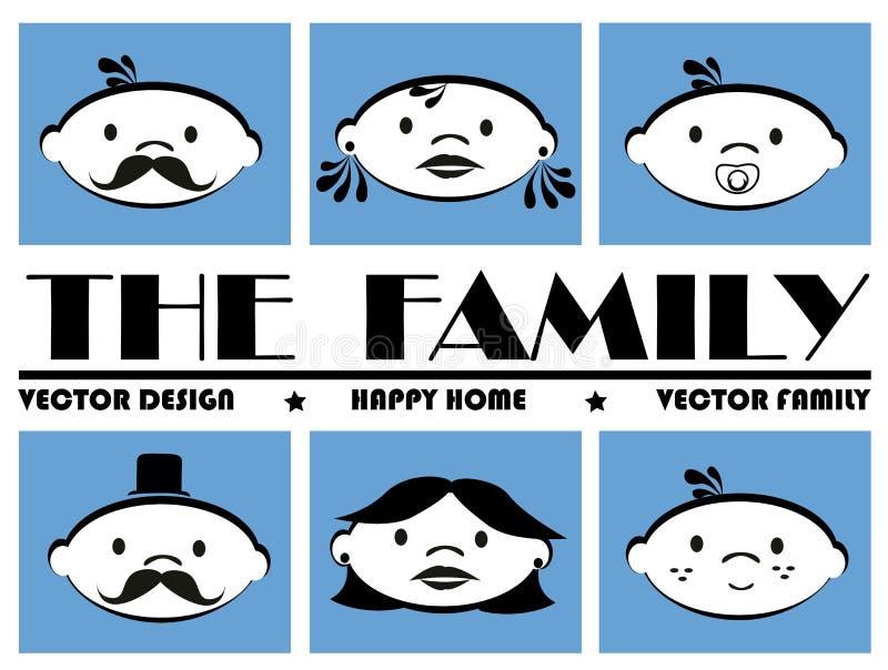Les icônes de famille illustration stock