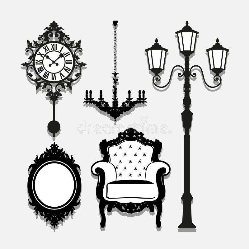 Les icônes de lampe de vintage ont placé grand pour n'importe quel usage Vecteur eps10 illustration de vecteur