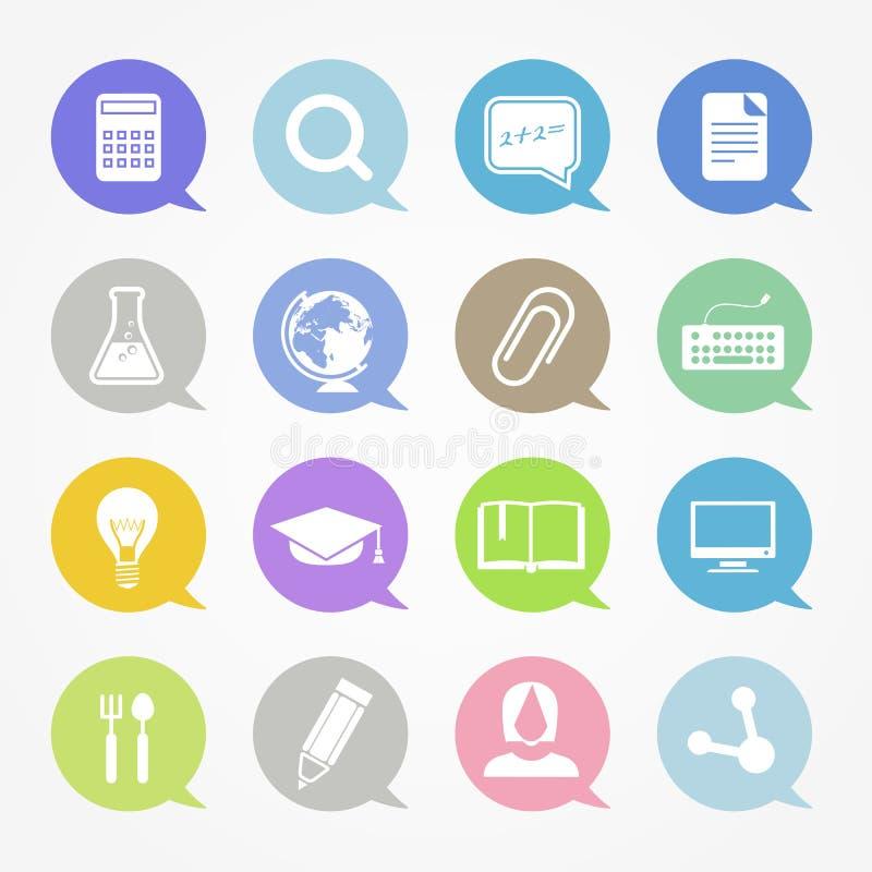 Icônes de Web d'éducation illustration libre de droits