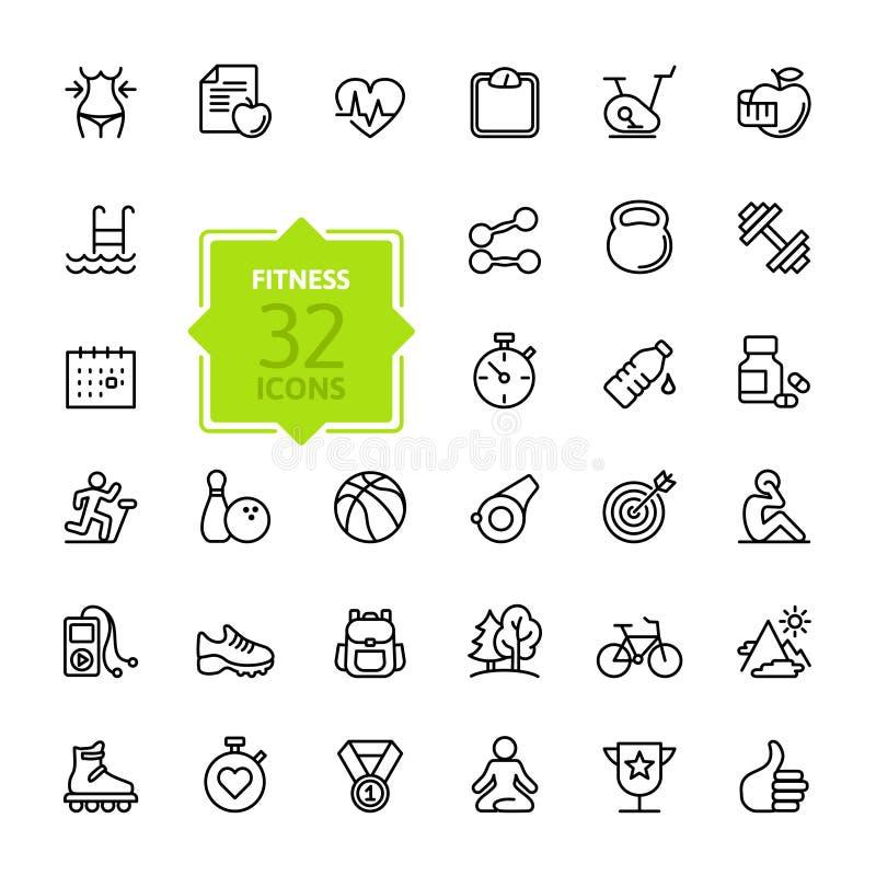 Les icônes de Web d'ensemble ont placé - sport et forme physique illustration libre de droits