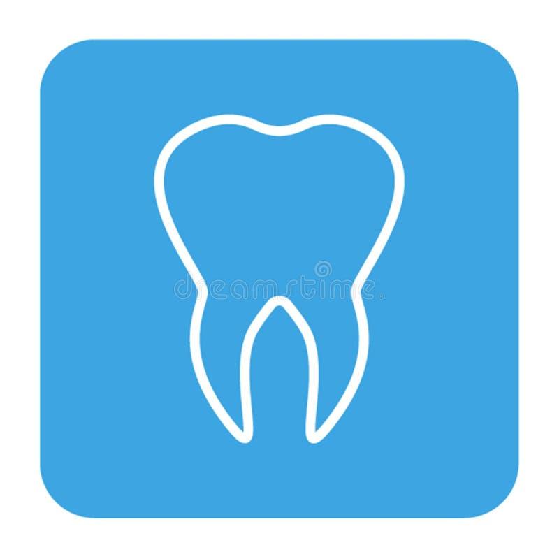Les icônes humaines de dents ont placé d'isolement pour la clinique de médecine dentaire Logo linéaire de dentiste Vecteur illustration de vecteur