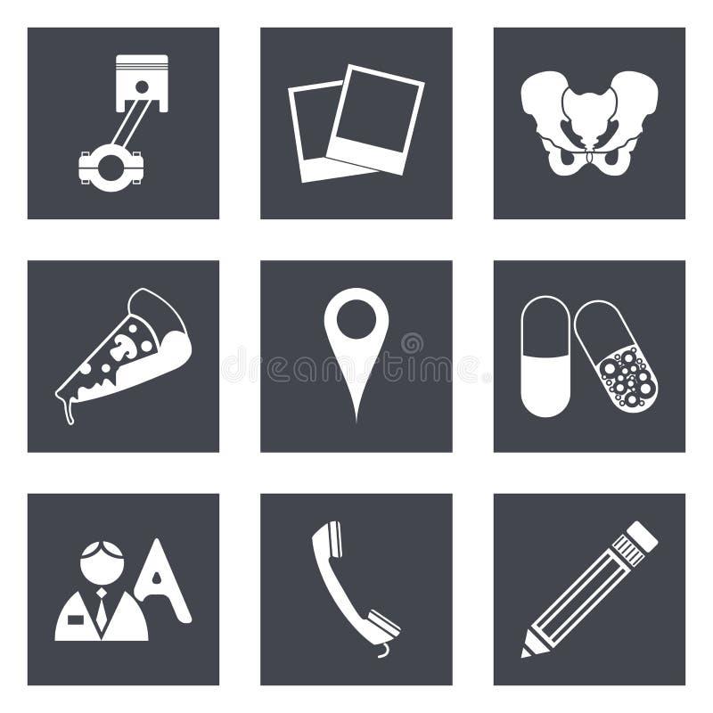 Les icônes pour le web design ont placé 23 illustration libre de droits